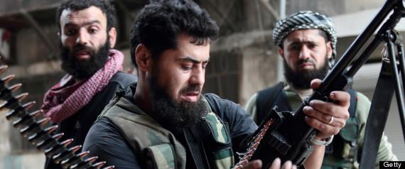 SYRIAN REBELS GUNS