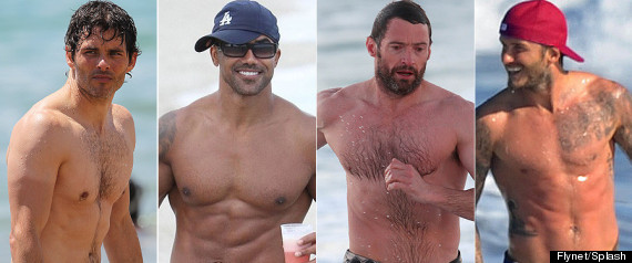 Shirtless Celeb Men