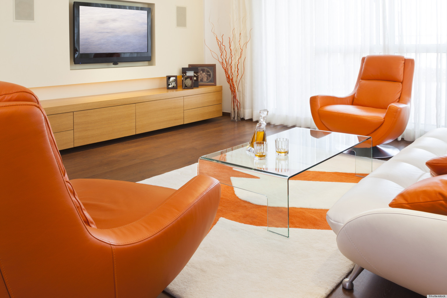 bring summer inside with bright orange decor huffpost - Orange Decor