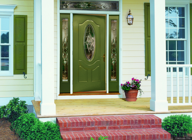 Front Door Colors For Brown House Pleasing Of Greenhouse Front Door Colors Image