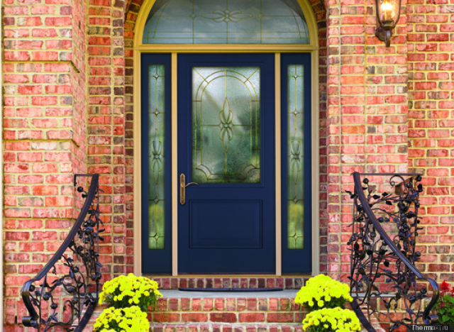 Red Front Door Colors with Brick 640 x 468
