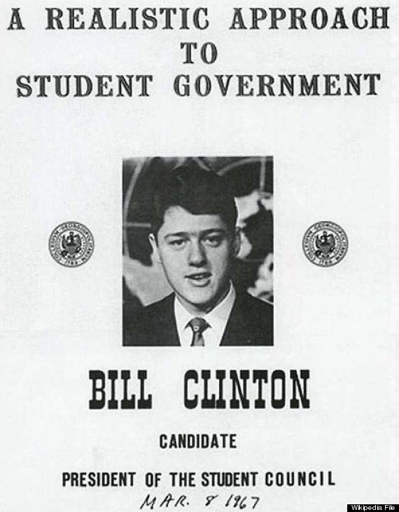 bill clinton student council