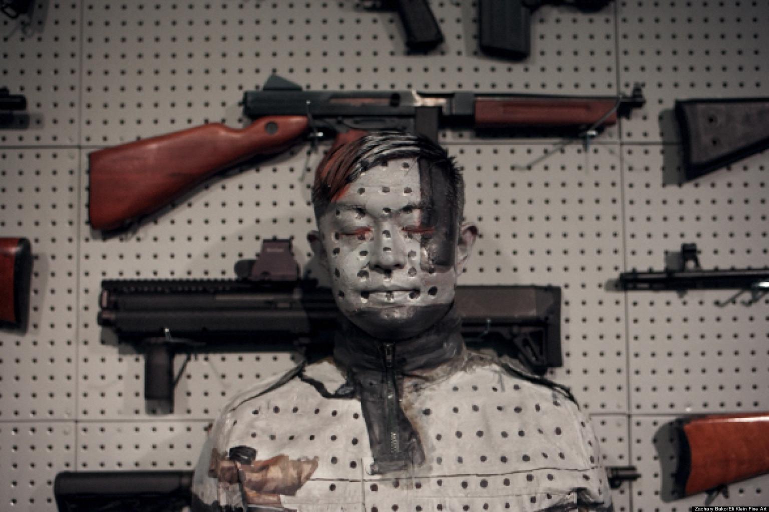 Liu Bolin S Gun Rack Performance Invisible Artist
