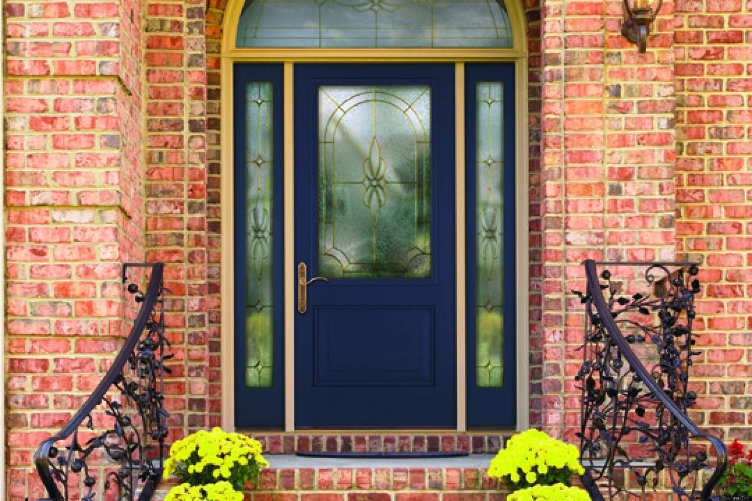What your front door color has to say about your Front door color ideas for brick house