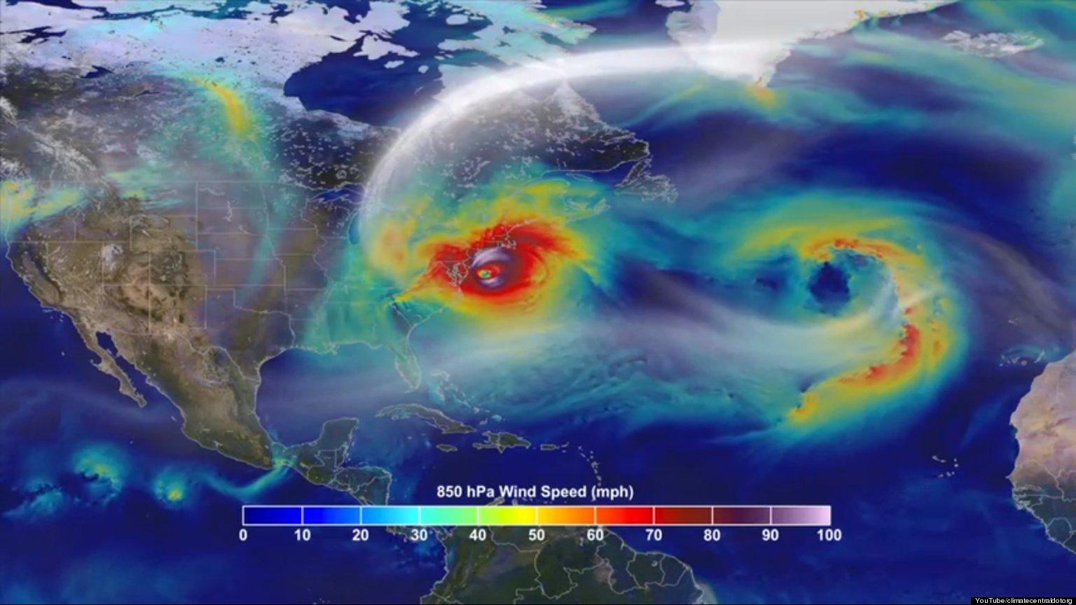 hurricane sandy animation shows storm hitting u s  east
