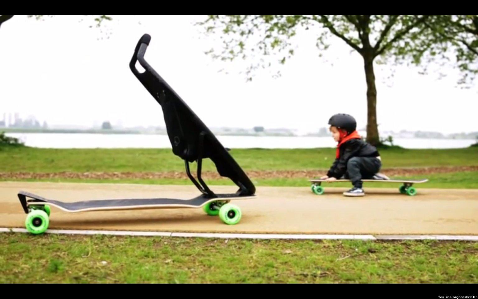 Skateboard Stroller: The Quinny Jett Is An Actual Longboardstroller ...