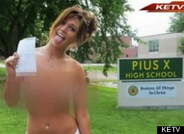 Porn revenge? Adult website model takes nude photos to get back at Catholic school (PHOTO)