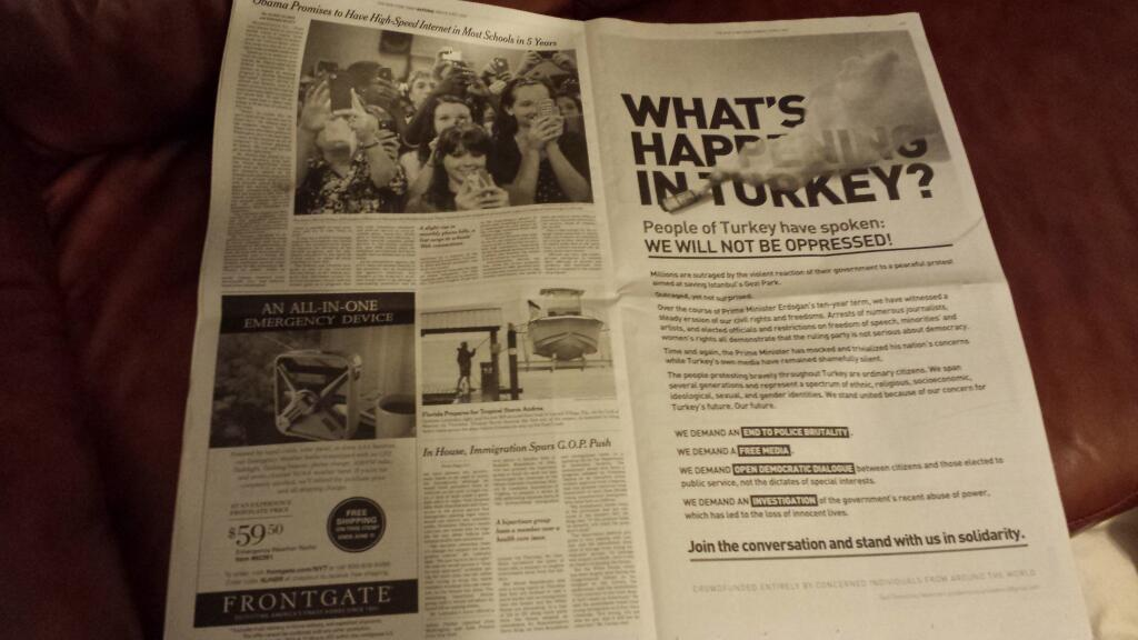 turkish protesters ny times ad