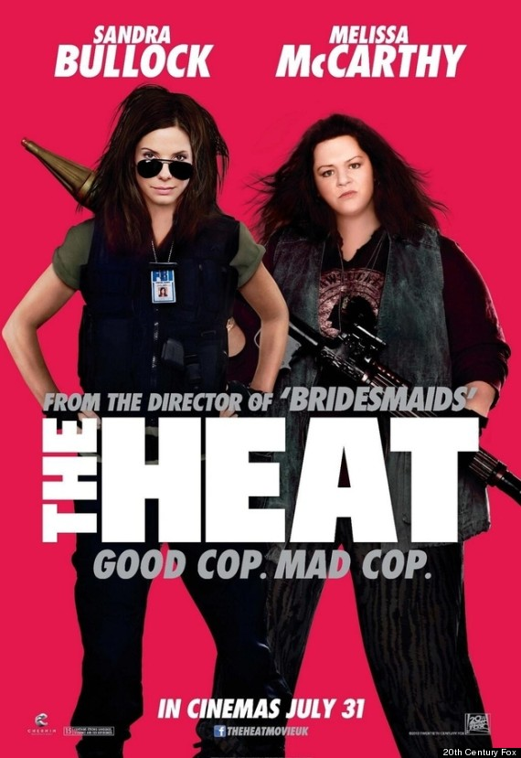Melissa mccarthy on the heat poster actress s face neck appear to