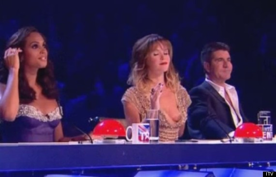 The mishap occurred while the judges were critiquing 11-year-old