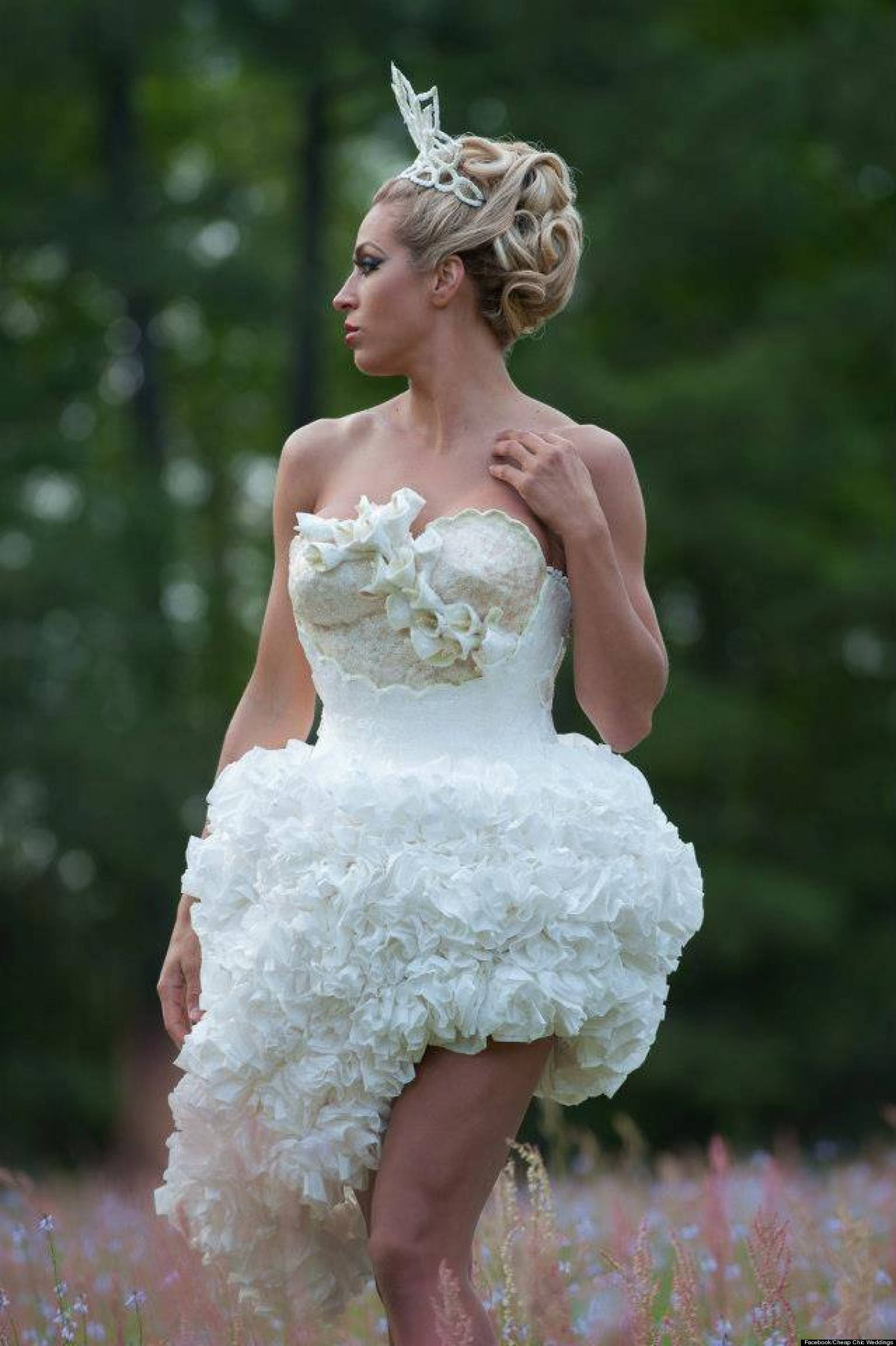 toilet paper wedding dress