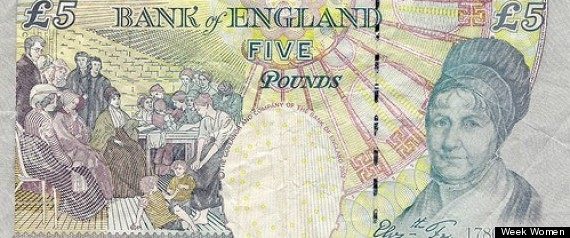 women featured on british banknotes