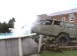 Crazy Canadians Drive Jeep Into Above Ground Pool (VIDEO)