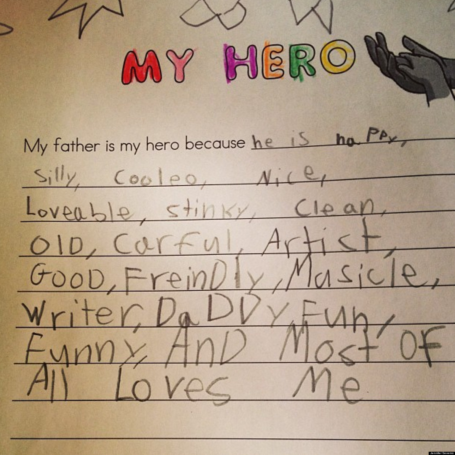 My hero essay father