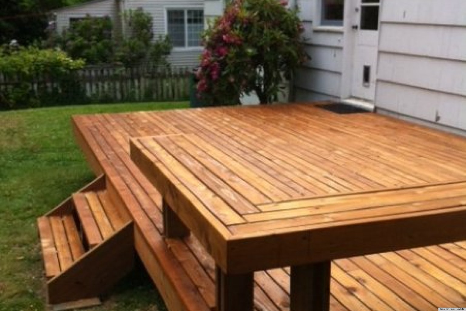 Building a deck is how one couple initiated their new home for Patio construction ideas