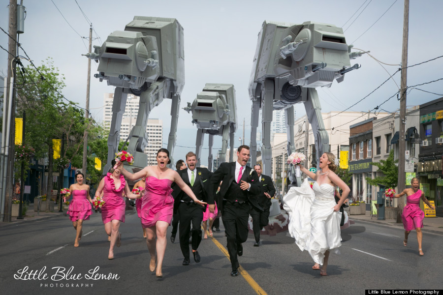 star wars walkers wedding photography