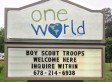 Church Sign Welcomes Boy Scouts After Gay Ban Is Lifted