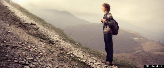 TEEN ON MOUNTAIN