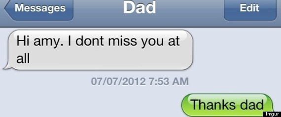FUNNY TEXTS FROM DAD