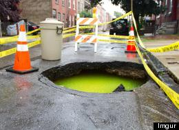 'Ooze' Spotted In Philly Sinkhole