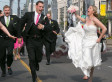 'Star Wars' Wedding Photo Shows Bridal Party Getting Chased By AT-AT Walkers