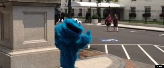 COOKIE MONSTER WHITE HOUSE VISIT