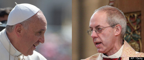 Pope Francis Justin Welby