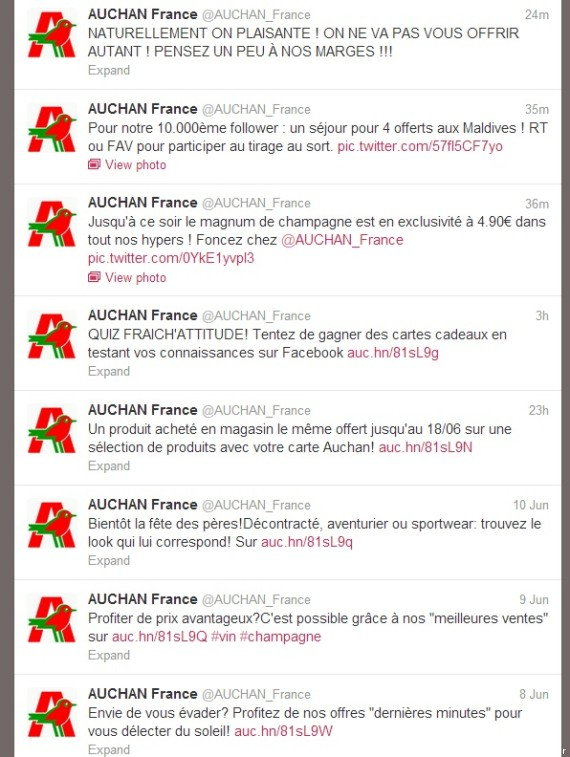 twitter auchan pirate