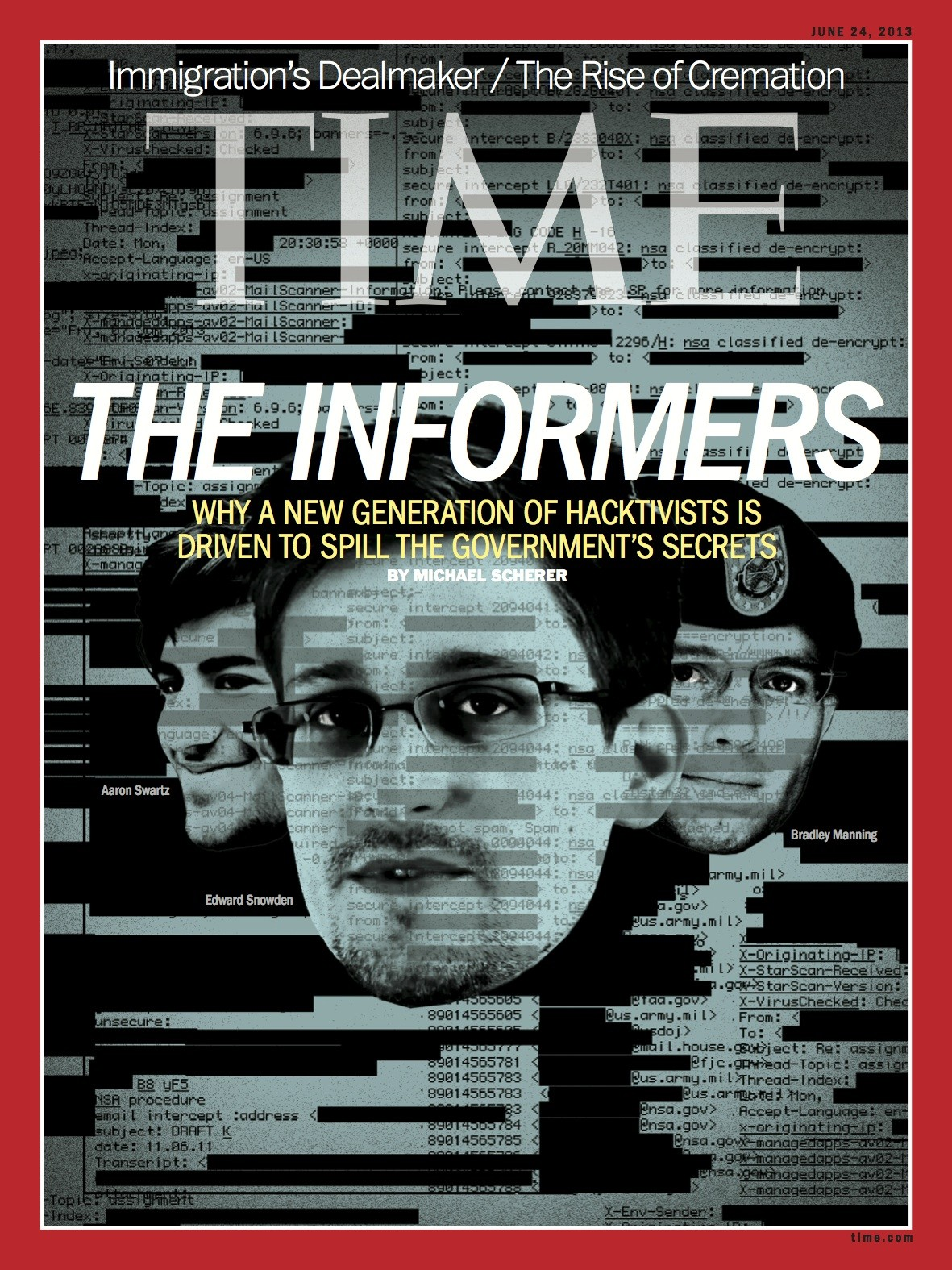 edward snowden covers time magazine 39 s latest issue photo huffpost. Black Bedroom Furniture Sets. Home Design Ideas
