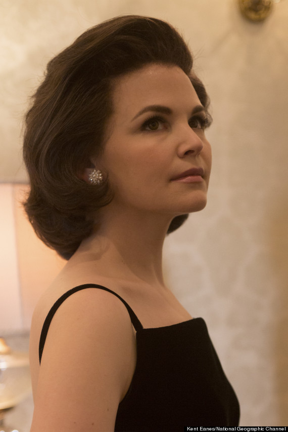 Ginnifer goodwin as jackie kennedy and rob lowe as jfk in for Jackie kennedy movie