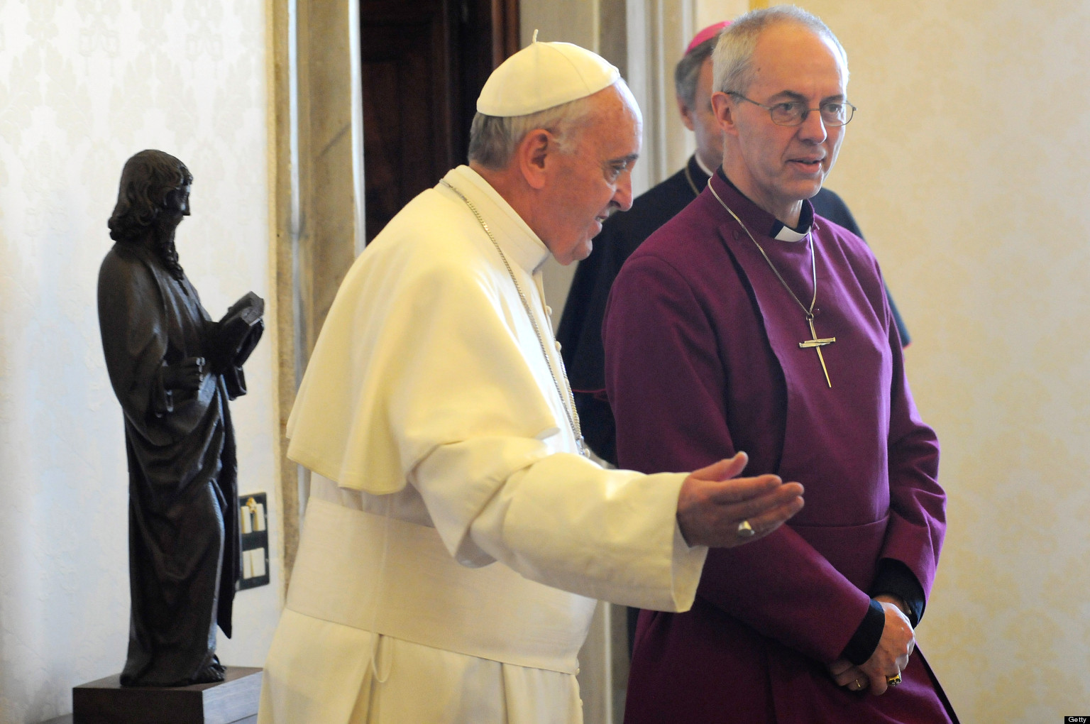 pope and archbishop of canterbury meet