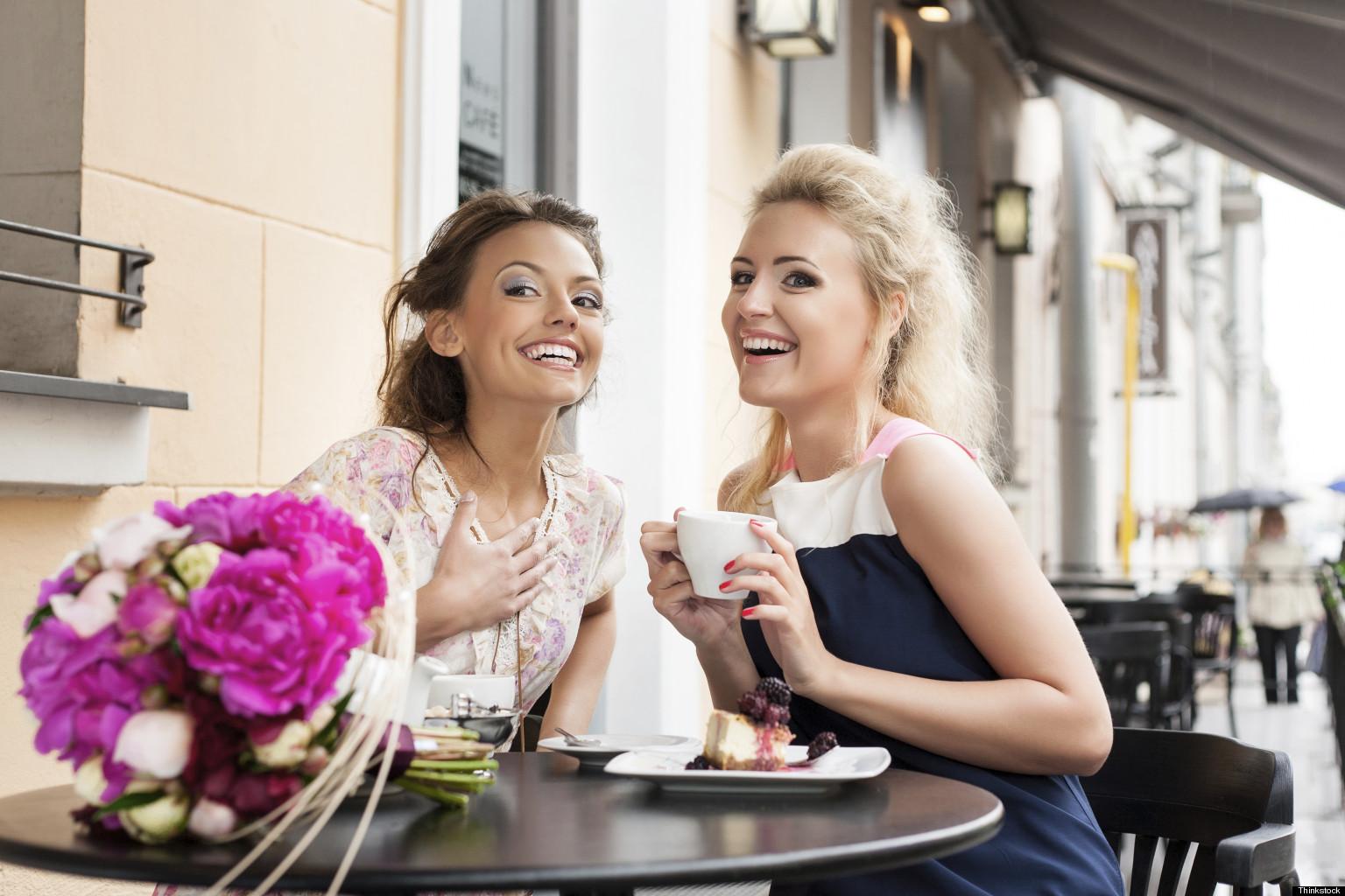Фото жен в кафе 2 фотография