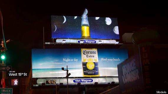 corona billboard