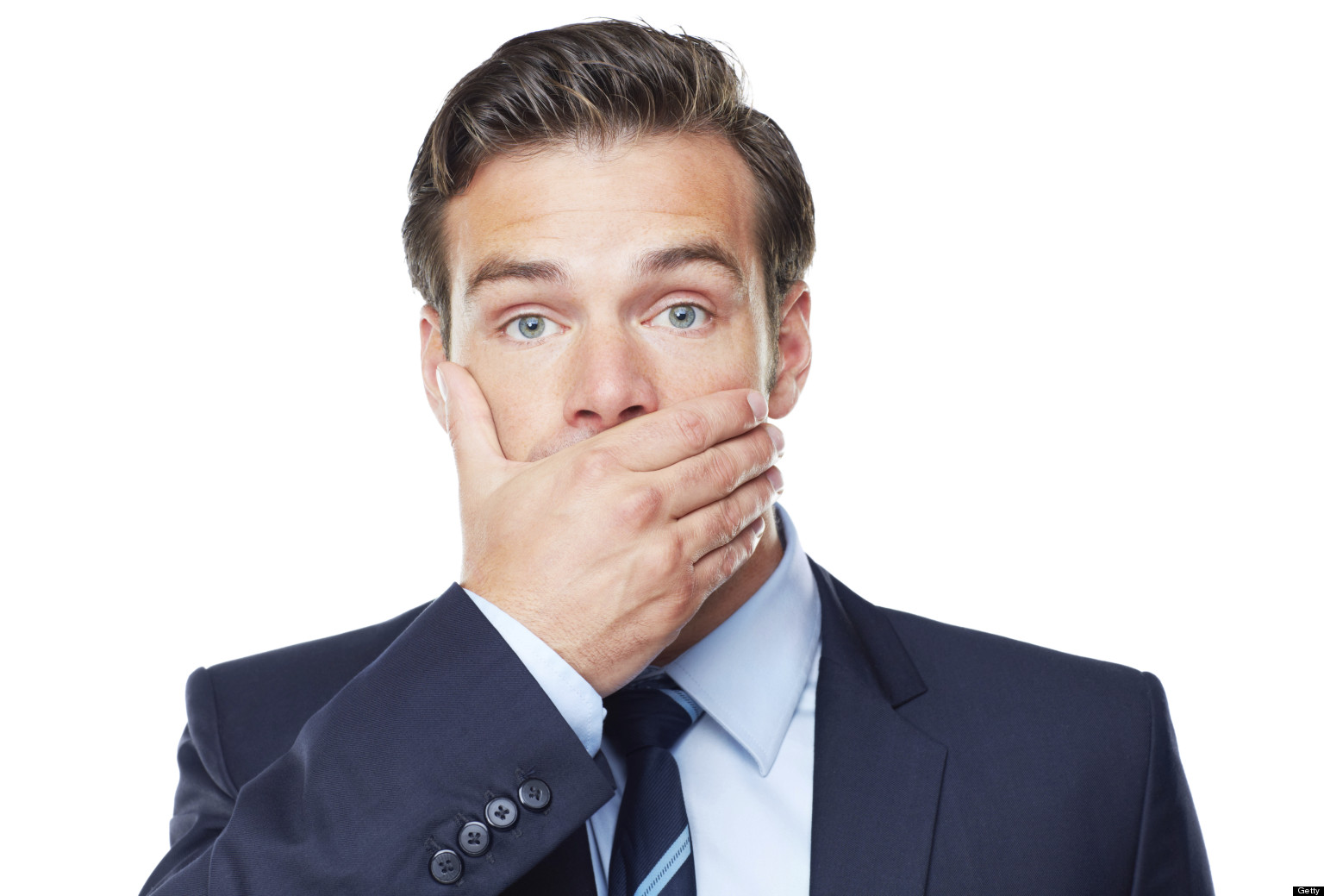 Man Covering Mouth 59