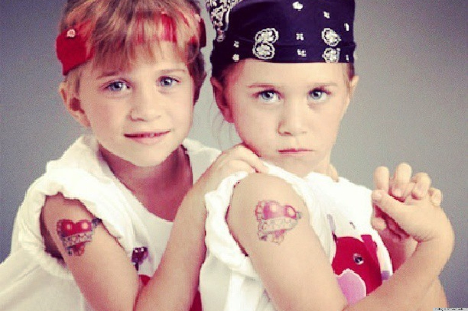 olson twins young Olsen Twins Throwback, Young Brooke Shields & More Instagrams Of The Week | Huffington Post