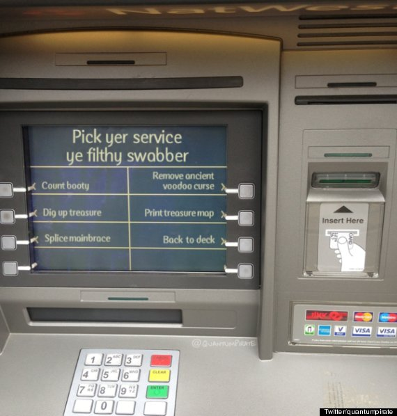 natwest cashpoint machine pirate