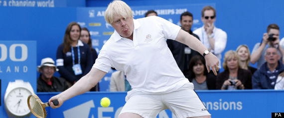 Boris Johnson Playing Tennis