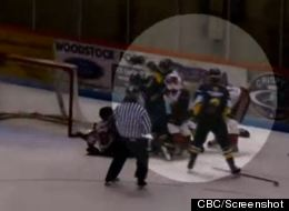 Brantford Hockey Fight
