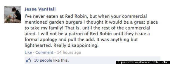 red robin vegetarian