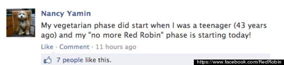 red robin vegetarian