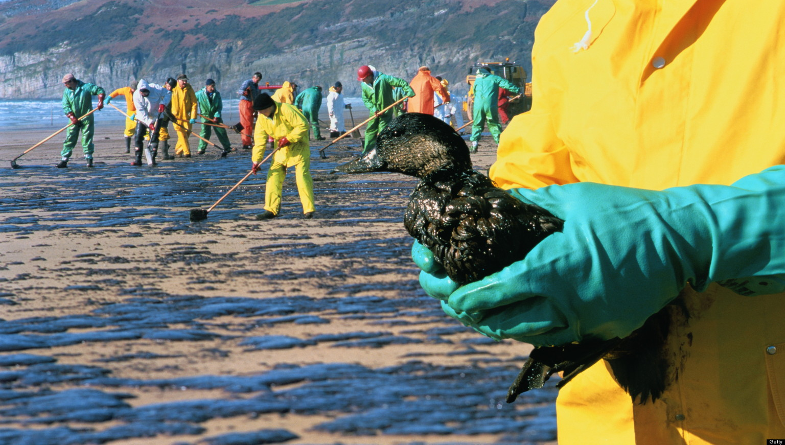 a discussion on the issue of oil spills