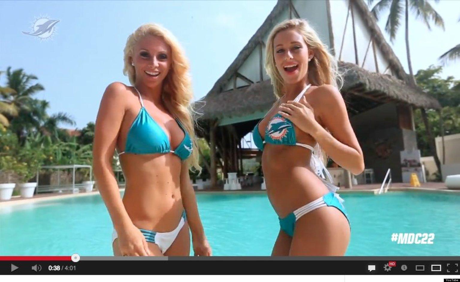 Miami Dolphins Cheerleaders Film Taylor Swift's '22