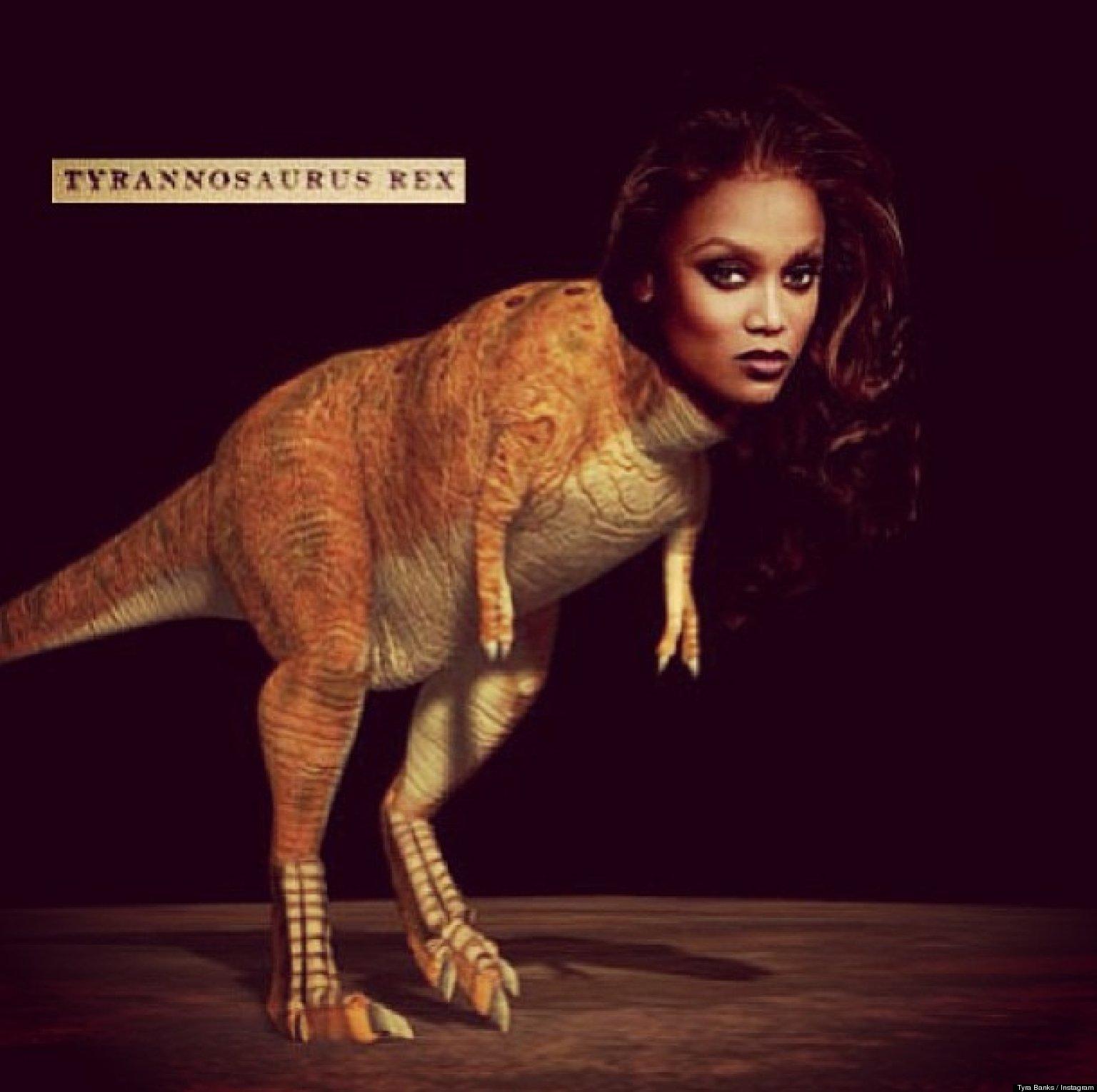 Tyra Banks Japan: Celebrities As Dinosaurs, Inspired By Tyra Banks