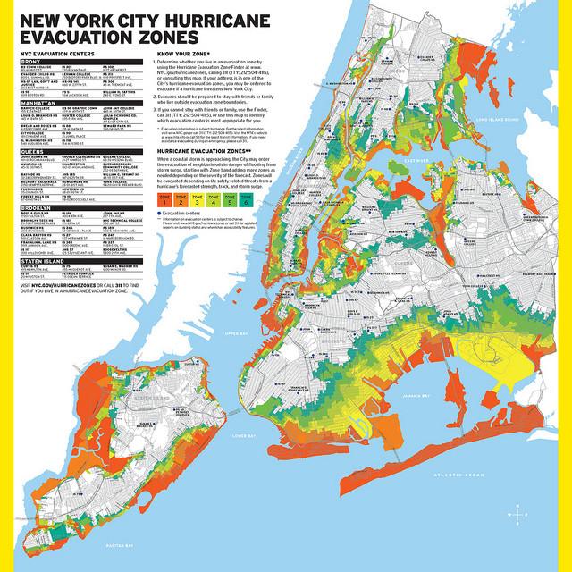 nyc hurricane evacuation zones map