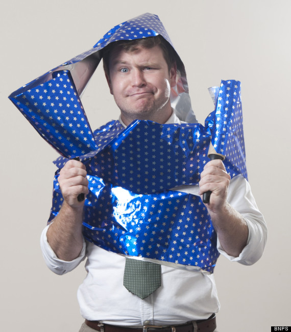 man wrap wrapping paper
