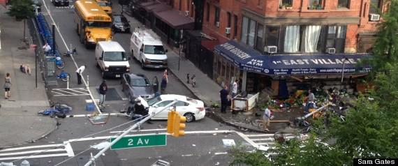 EAST VILLAGE CAR CRASH