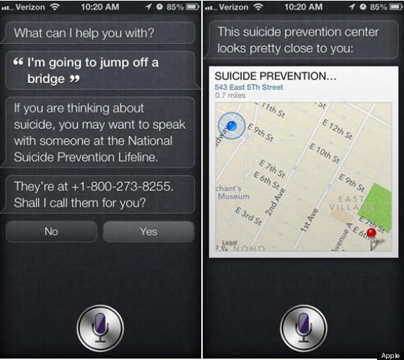 siri suicide prevention