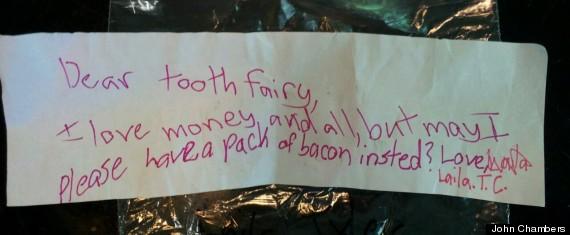 tooth fairy bacon
