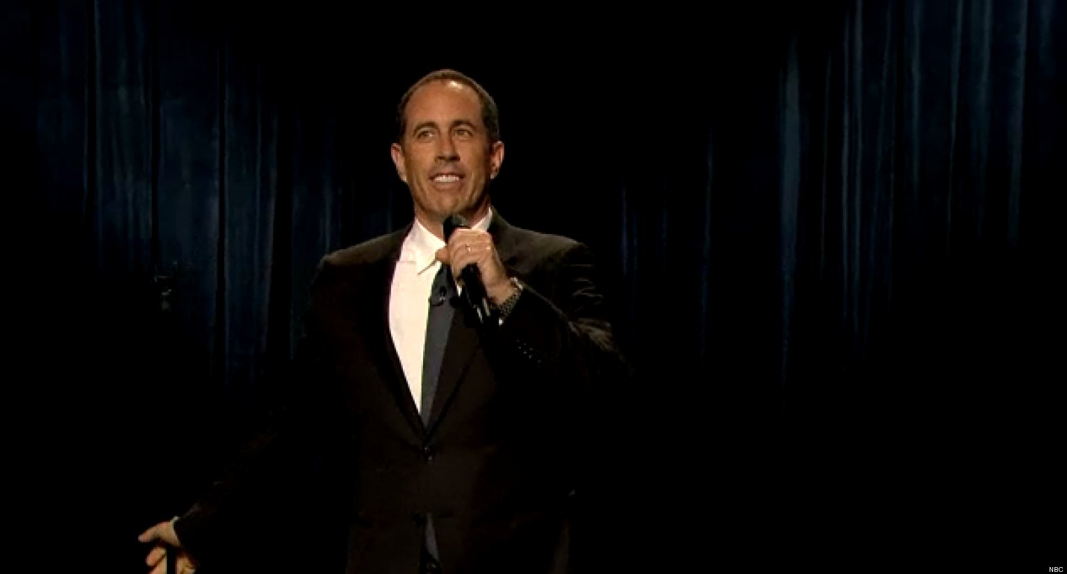 jerry seinfeld performs 39 late night 39 stand up set on dads. Black Bedroom Furniture Sets. Home Design Ideas