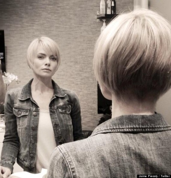 jaime pressly new hair